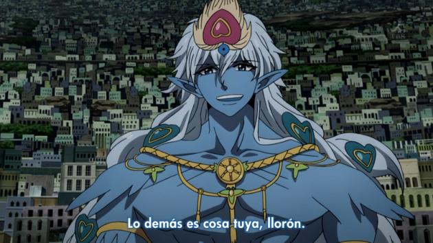 El mejor personaje de Magi con el mejor diálogo. Lástima que lo dijo cuando ya terminaba el anime.